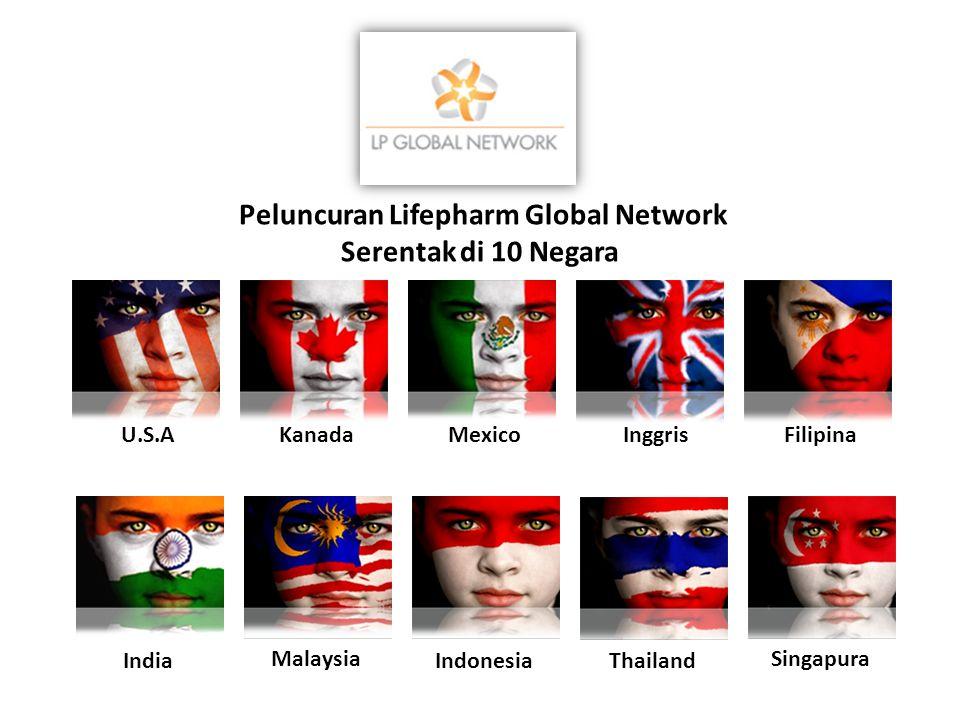 U.S.AKanada Indonesia Inggris Malaysia India Singapura Mexico Thailand Filipina Peluncuran Lifepharm Global Network Serentak di 10 Negara