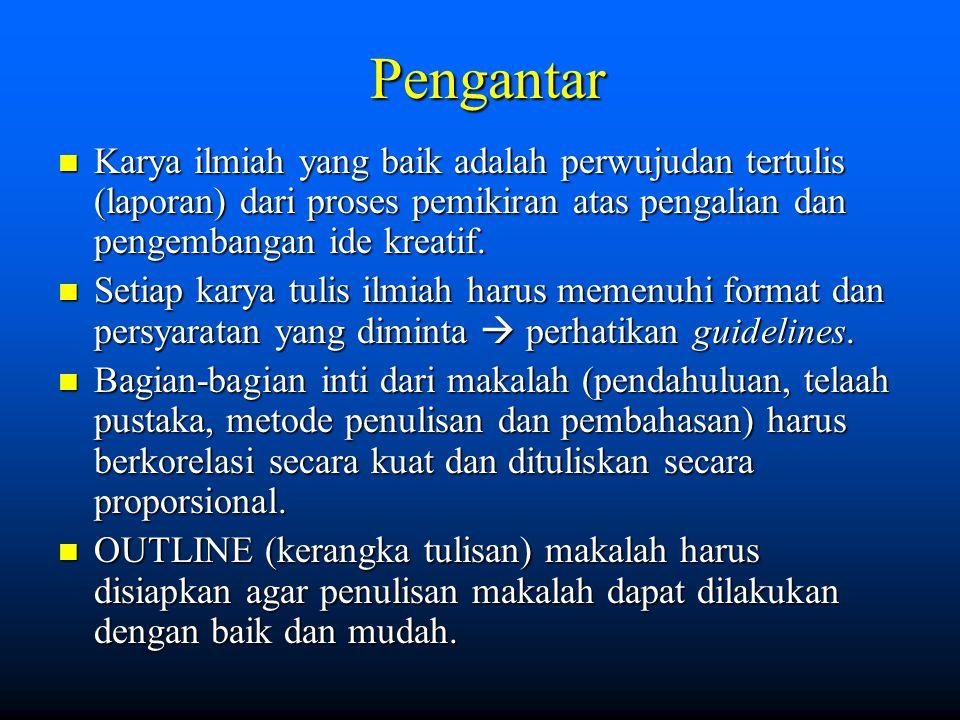 Format Tulisan (umum) 1.