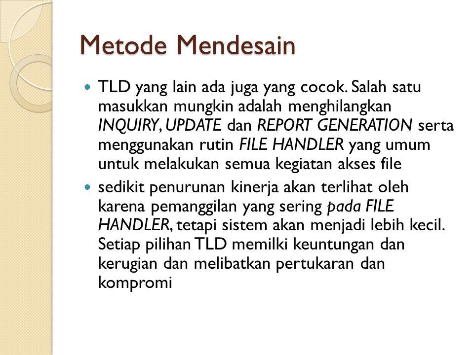Metode Mendesain TLD yang lain ada juga yang cocok.