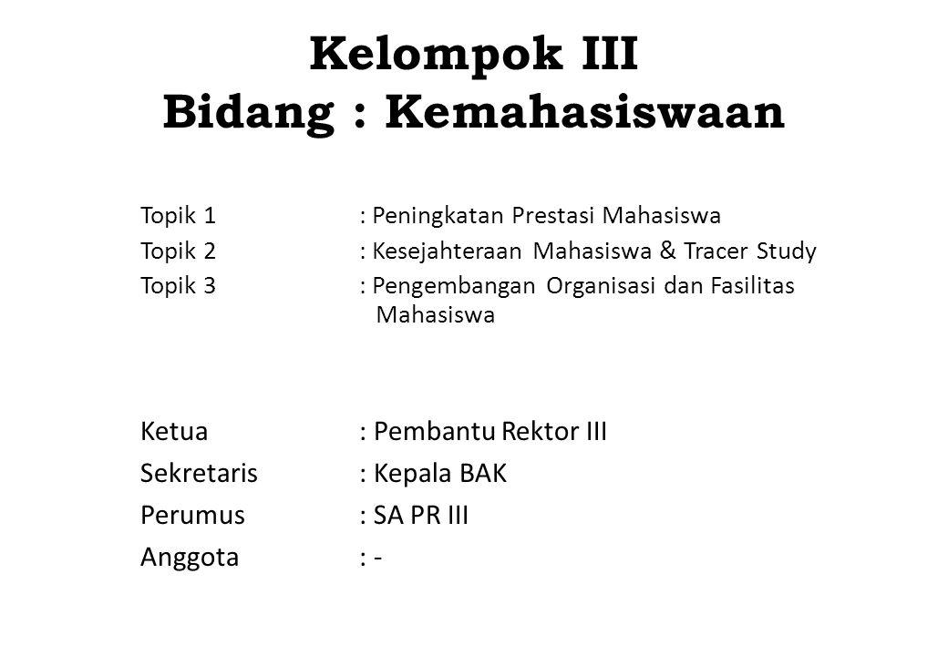 Topik 1 : Peningkatan Prestasi Mahasiswa NO ISU STRATEGIS / AKTUAL RENCANA AKSI DAN KOMITMEN (SOLUSI) PIC (Unit Kerja) 1.