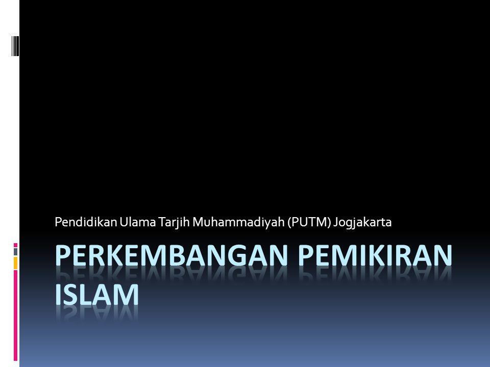 Pembagian periodesasi perkembangan pemikiran Islam  Pertama, perlu diketahui bahwa bahasan ini tak lepas dari bahasan-bahasan berkenaan dengan Sejarah Pensyariatan Islam (Tarikh al-Tasyri'i'l Islamiy).