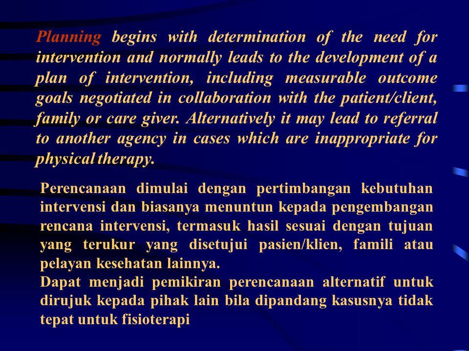 Diagnosis (APTA) Merupakan pernyataan, label, menggambarkan multi dimensi pasien/klien Dari tingkat basis ( sel )> tertinggi fungsi biasanya : ' impac