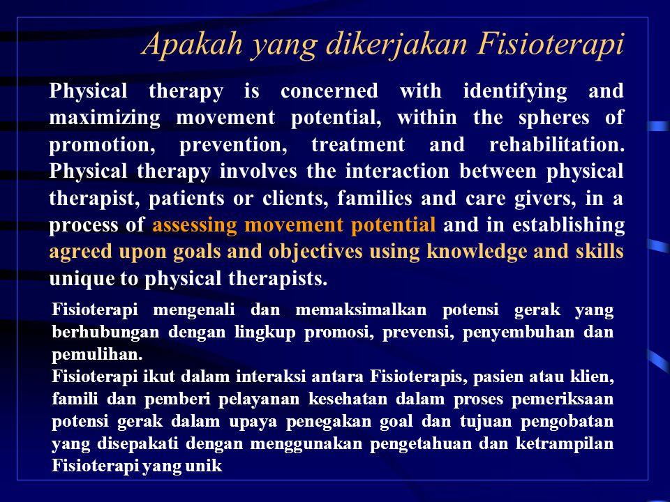 Diagnosa Musculoskeletal (1) 1.Berpotensi untuk terjadi gangguan kinerja system muskulo skeletal 2.Gangguan Sikap 3.Gangguan Kinerja otot 4.Gangguan mobilitas sendi, motor function, kinerja otot, dan ROM yang berkaitan dengan connective tissue.