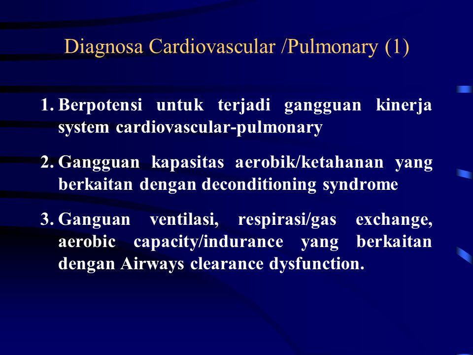 Diagnosa Neuromuskular (3) 7.Gangguan motor function dan sensory integration yang berkaitan dengan Acute atau Chronic Polyneuropathies. 8.Gangguan mot