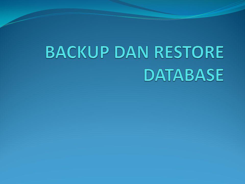 BACKUP BACK UP adalah suatu proses memindahkan atau menyalin kumpulan informasi (data) yang tersimpan di dalam hardisk komputer yang biasanya dilakukan dari satu lokasi/perangkat ke lokasi/perangkat lain.