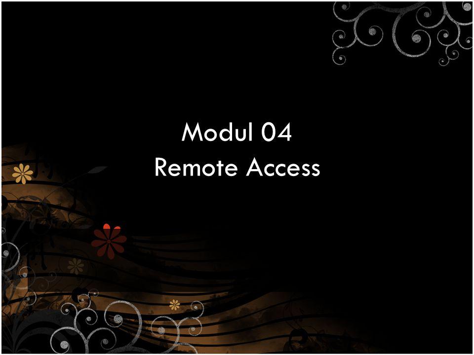 Tujuan Praktikum Melakukan konfigurasi SSH Server pada Linux – Melakukan remote access berbasis text-mode dengan SSH menggunakan Windows dan Linux Melakukan konfigurasi Telnet Server pada Windows – Melakukan remote access berbasis text-mode dengan Telnet menggunakan Windows dan Linux Melakukan konfigurasi Windows Remote Desktop Connection (RDC) pada Windows – Melakukan remote access berbasis GUI dengan Windows RDC menggunakan Windows Melakukan konfigurasi Virtual Network Computing (VNC) pada Linux dan Windows – Melakukan remote access berbasis GUI dengan VNC menggunakan Linux dan Windows