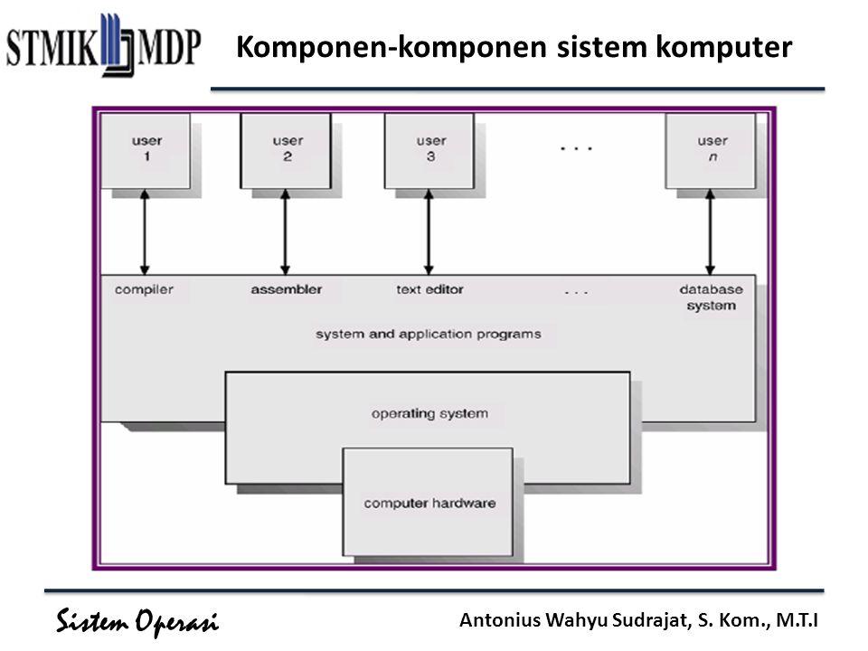 Sistem Operasi Antonius Wahyu Sudrajat, S. Kom., M.T.I Komponen-komponen sistem komputer
