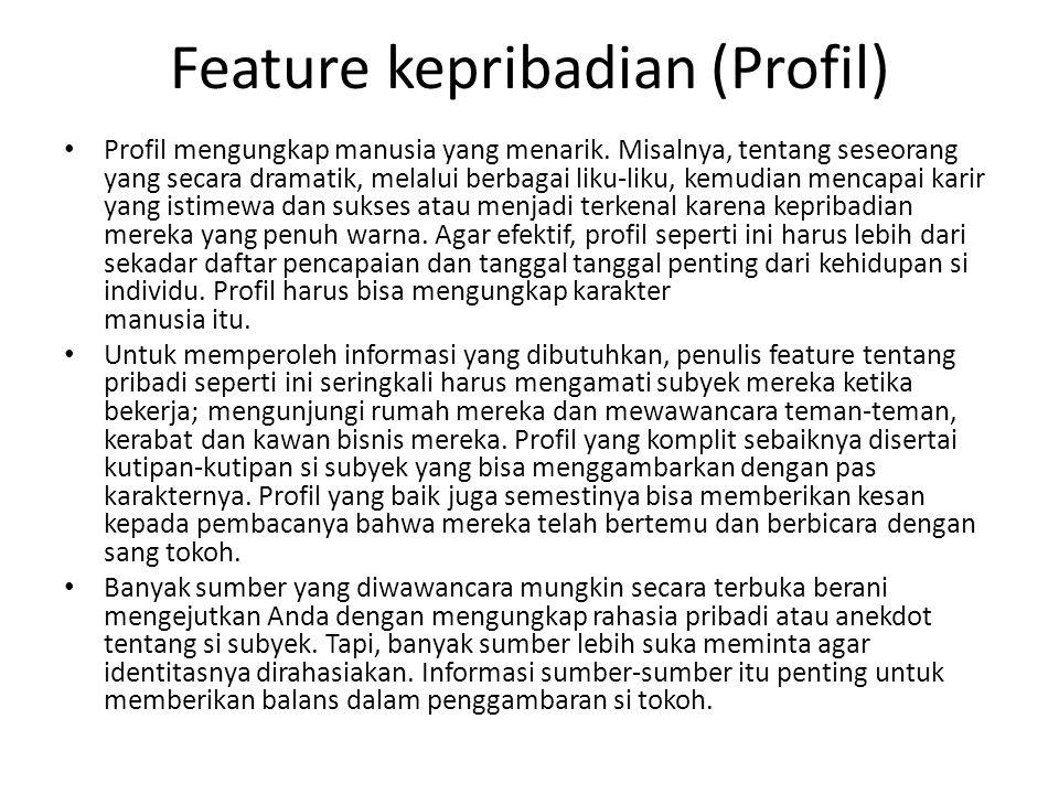 Feature kepribadian (Profil) Profil mengungkap manusia yang menarik.