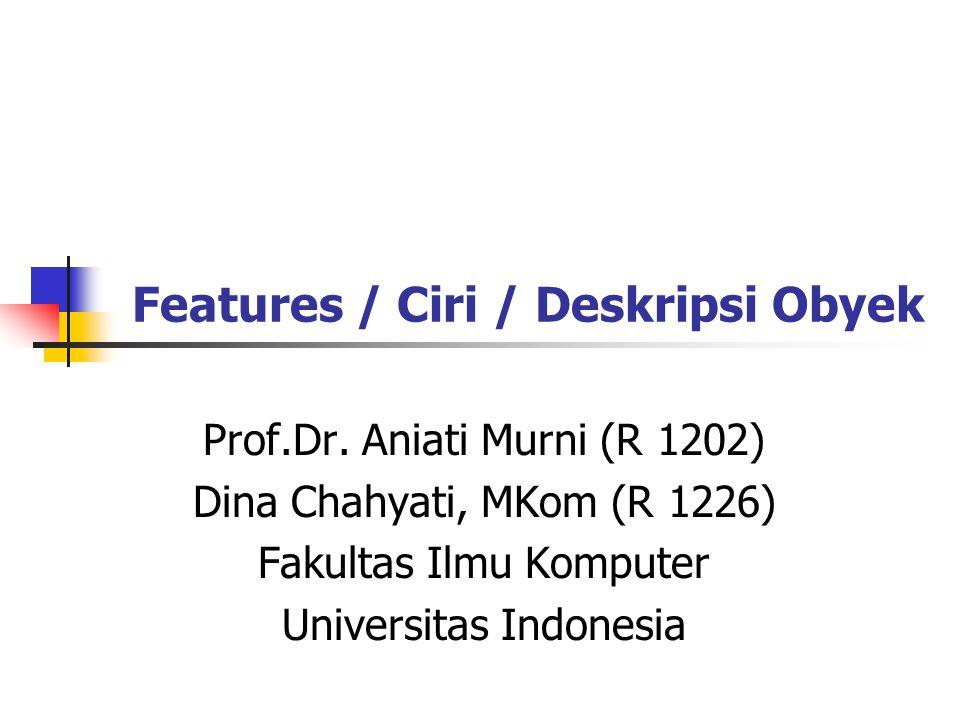 Features / Ciri / Deskripsi Obyek Prof.Dr.