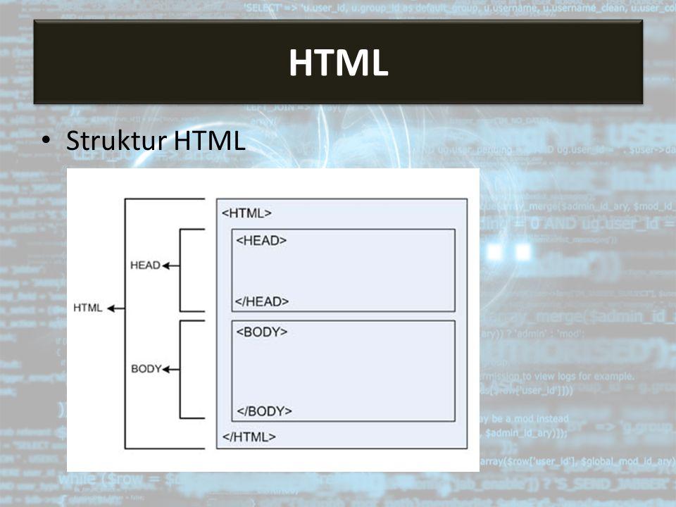 Struktur HTML HTML