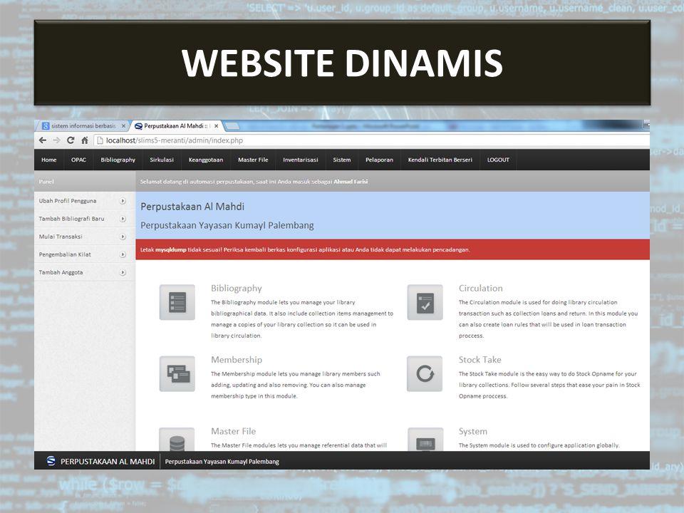 CMS adalah Aplikasi berbasis web untuk membuat website dan mengelola konten dari website itu sendiri Ragam Kegunaan CMS 1.Website portal 2.Website ecommerce CONTENT MANAGEMENT SYSTEM (CMS)