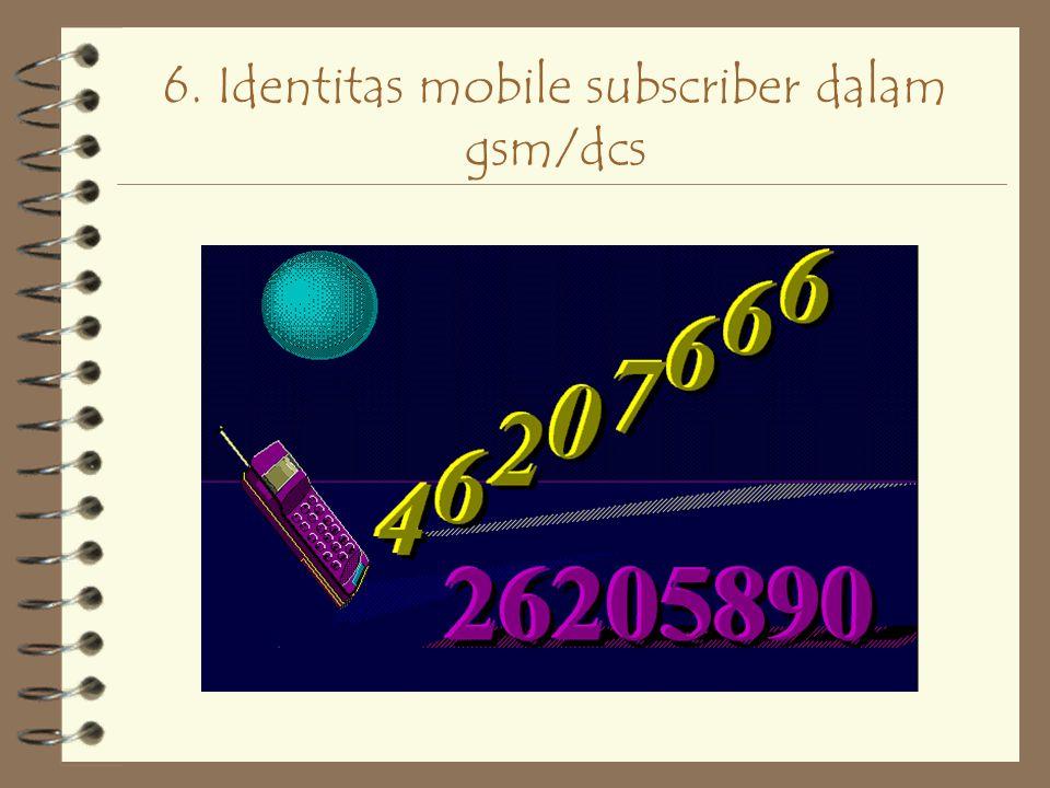 6. Identitas mobile subscriber dalam gsm/dcs