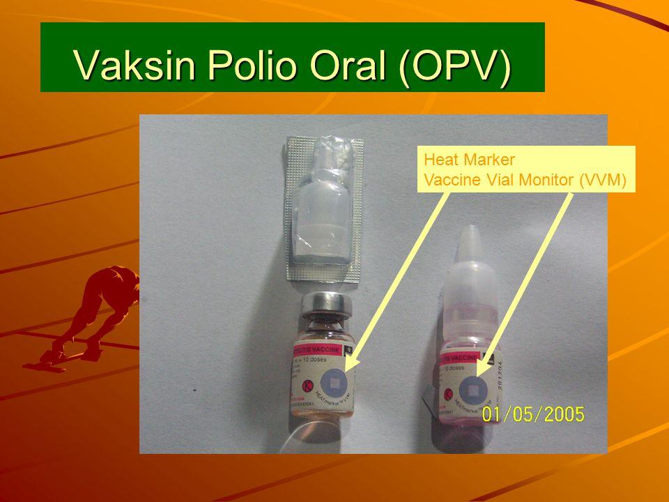 Vaksin Polio Oral (OPV) Heat Marker Vaccine Vial Monitor (VVM)