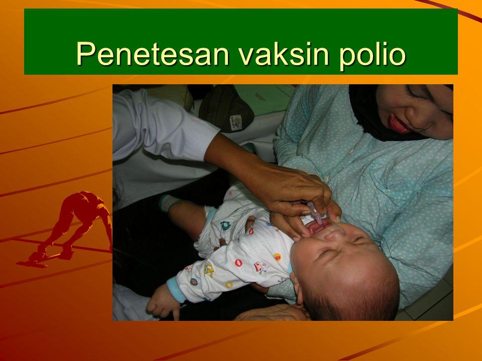 Penetesan vaksin polio