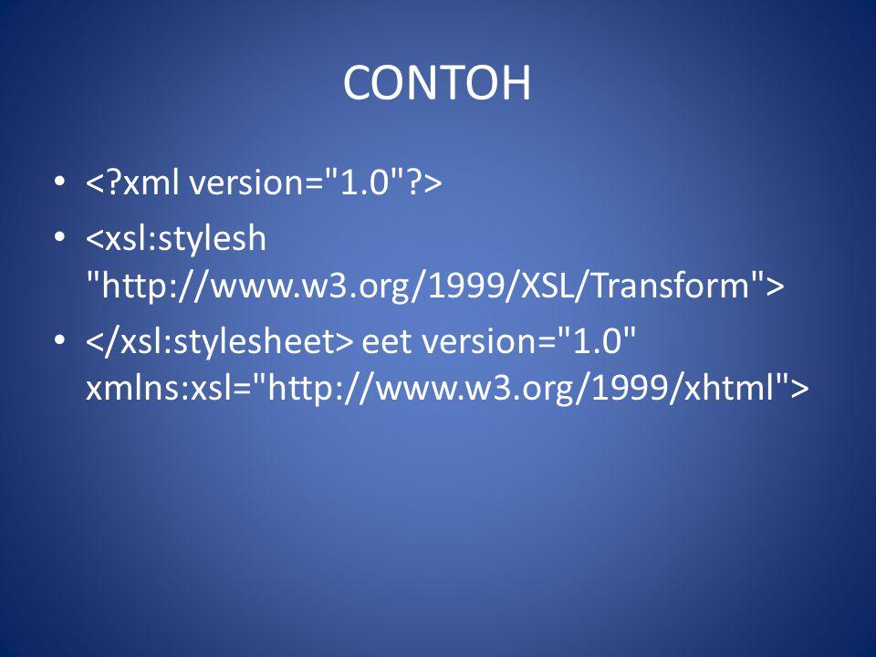CONTOH eet version=