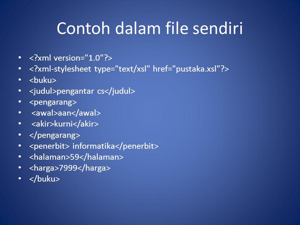 Contoh dalam file sendiri pengantar cs aan kurni informatika 59 7999