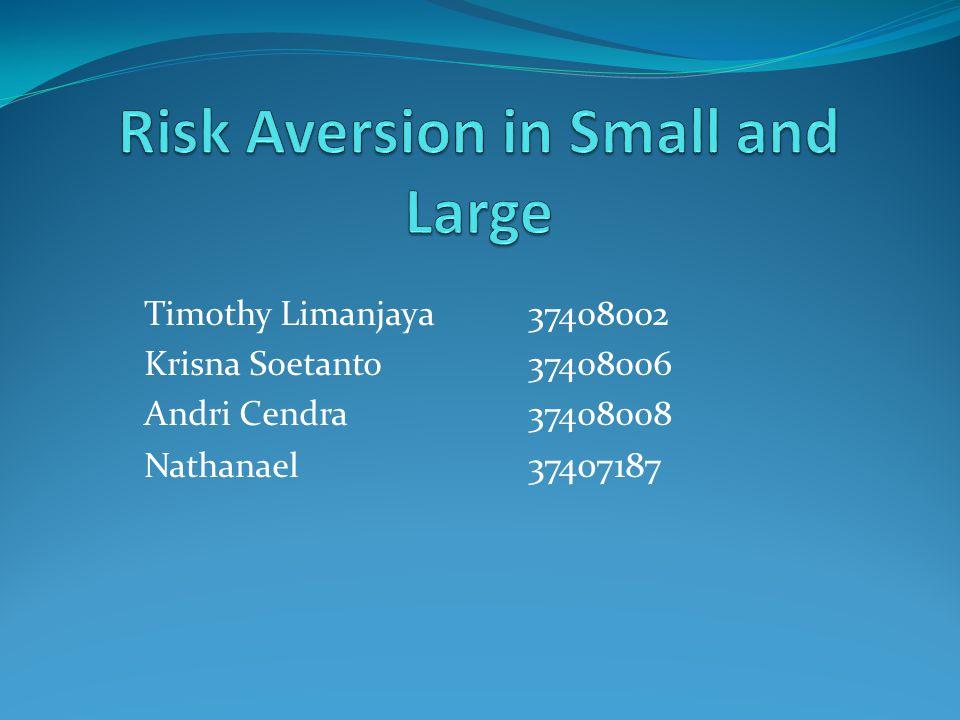 Summary and Introduction Risk Aversion Risk premium dan insurance akan naik sebanding dengan risk aversion Risk Aversion dapat diukut dari perbandingan cash equivalent terhadap aset u(x) = fungsi utilitas dari uang Sifat utama dari fungsi utilitas
