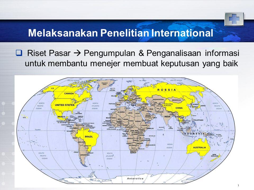 Melaksanakan Penelitian International  Riset Pasar  Pengumpulan & Penganalisaan informasi untuk membantu menejer membuat keputusan yang baik www.the