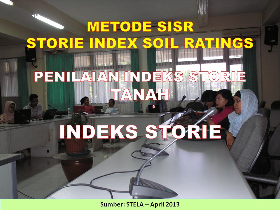 Index for cropland and rangeland The rating is based on soil characteristics and is obtained by evaluating soil surface and subsurface chemical and physical properties, as well as landscape surface features.