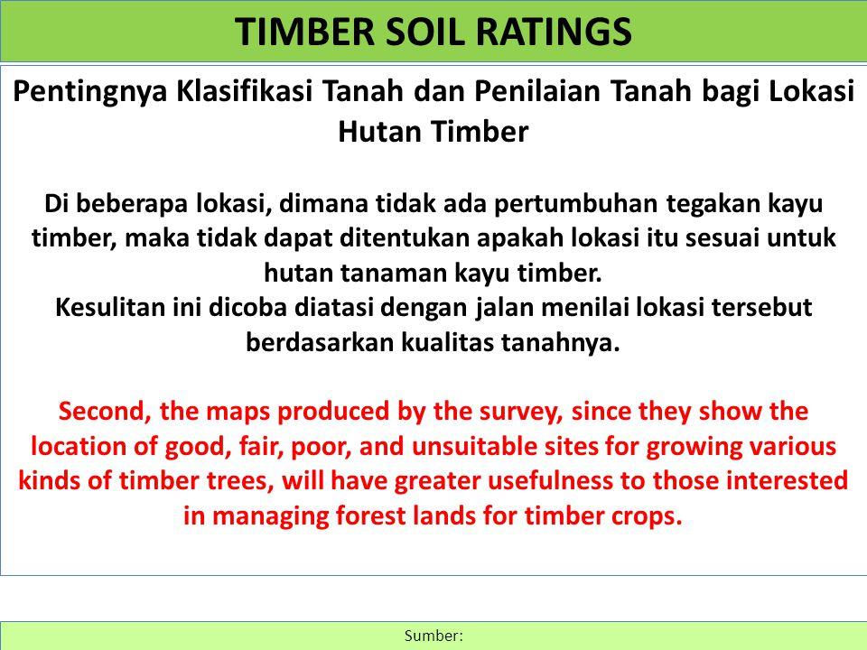 Pentingnya Klasifikasi Tanah dan Penilaian Tanah bagi Lokasi Hutan Timber Di beberapa lokasi, dimana tidak ada pertumbuhan tegakan kayu timber, maka t