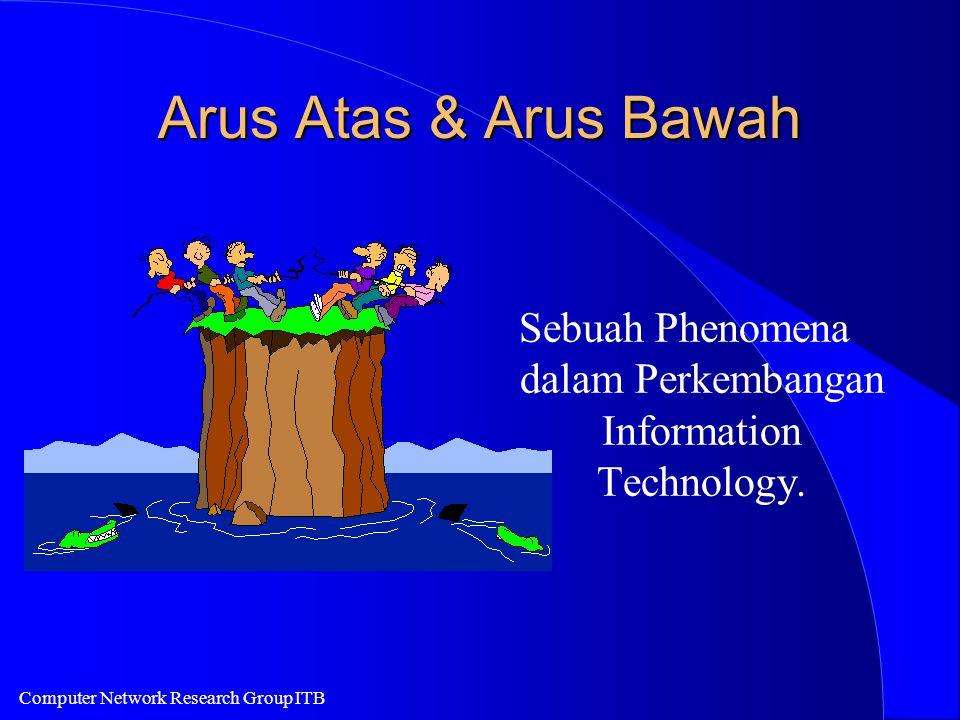 Computer Network Research Group ITB Arus Atas & Arus Bawah Sebuah Phenomena dalam Perkembangan Information Technology.