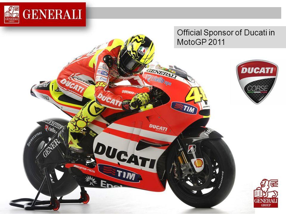 Official Sponsor of Ducati in MotoGP 2011