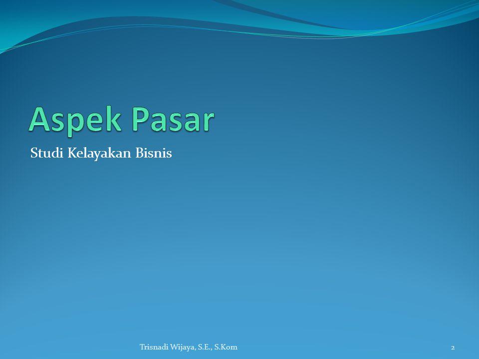 Studi Kelayakan Bisnis Trisnadi Wijaya, S.E., S.Kom2