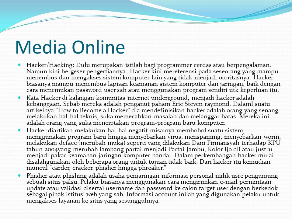 Manajemen Media Online IT Support Web Design Marketing Support Production News Production Non News