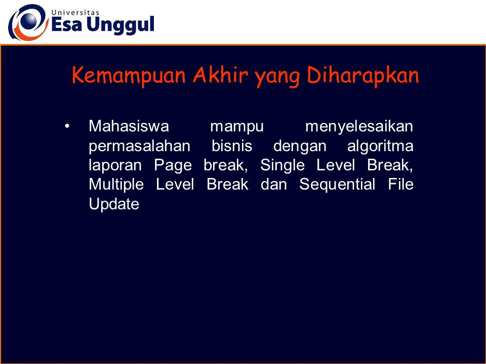 MATERI BELAJAR Laporan Multi Level Control Break A. Hierarchy Chart