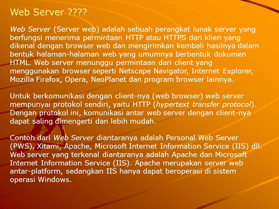 Hal yang paling utama dalam proses pembuatan web server adalah memilih software mana yang akan digunakan sebagai web server yang akan digunan.