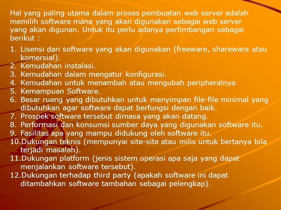 Cara Kerja Web Server 1.Client disini dapat berupa komputer desktop dengan minimal memiliki browser dangan terhubung ke web server melalui jaringan (intranet atau internet).