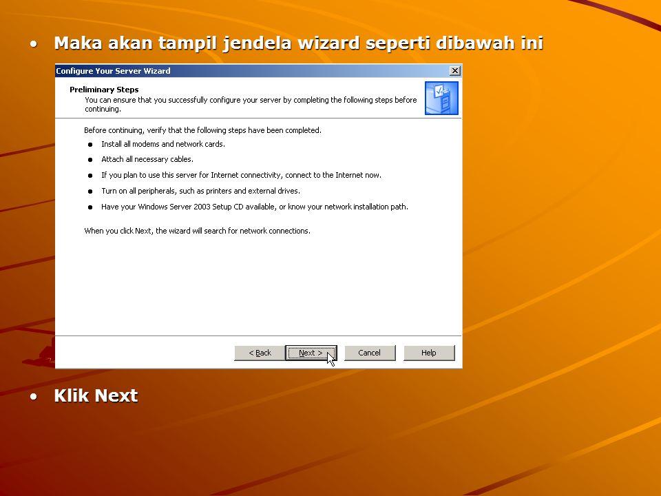 Tunggu beberapa saatTunggu beberapa saat Pilih Application Server, lalu klik NextPilih Application Server, lalu klik Next