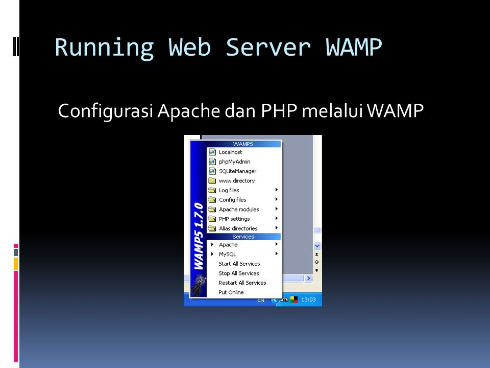 Running Web Server WAMP Configurasi Apache dan PHP melalui WAMP