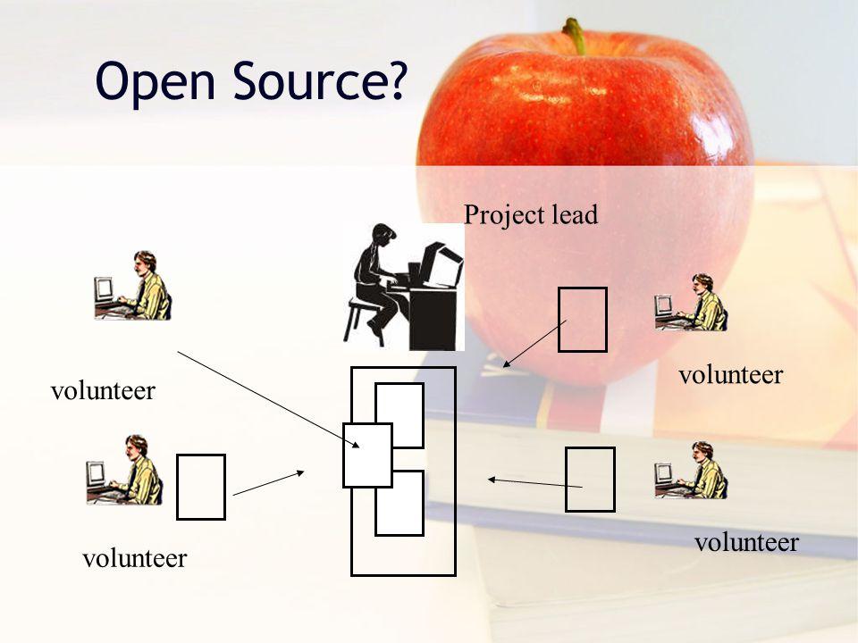 Open Source? volunteer Project lead