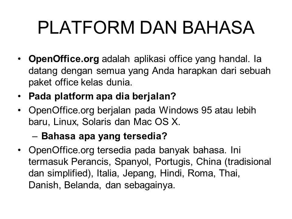 Apakah OpenOffice.org akan berhenti sebagai open source.