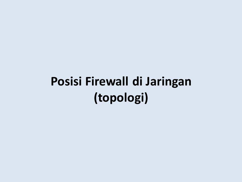 Posisi Firewall di Jaringan (topologi)