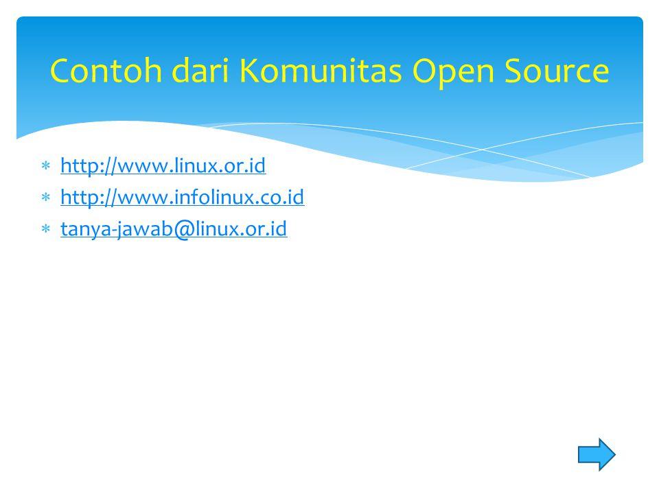  http://www.linux.or.id http://www.linux.or.id  http://www.infolinux.co.id http://www.infolinux.co.id  tanya-jawab@linux.or.id tanya-jawab@linux.or