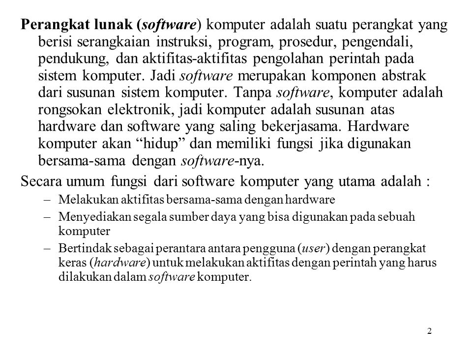 3 Jenis-Jenis Software