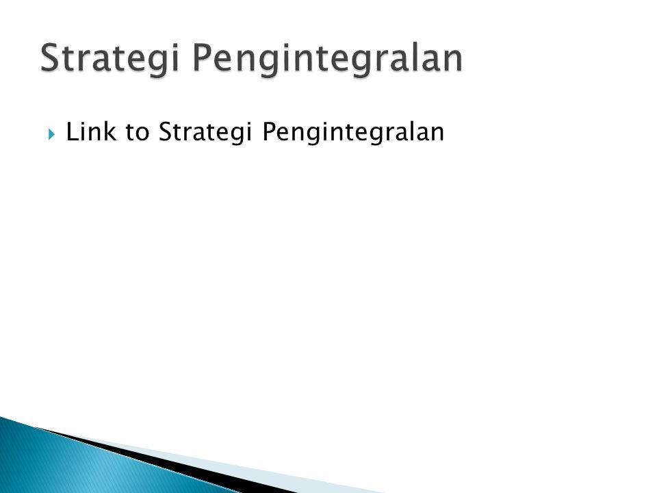  Link to Strategi Pengintegralan