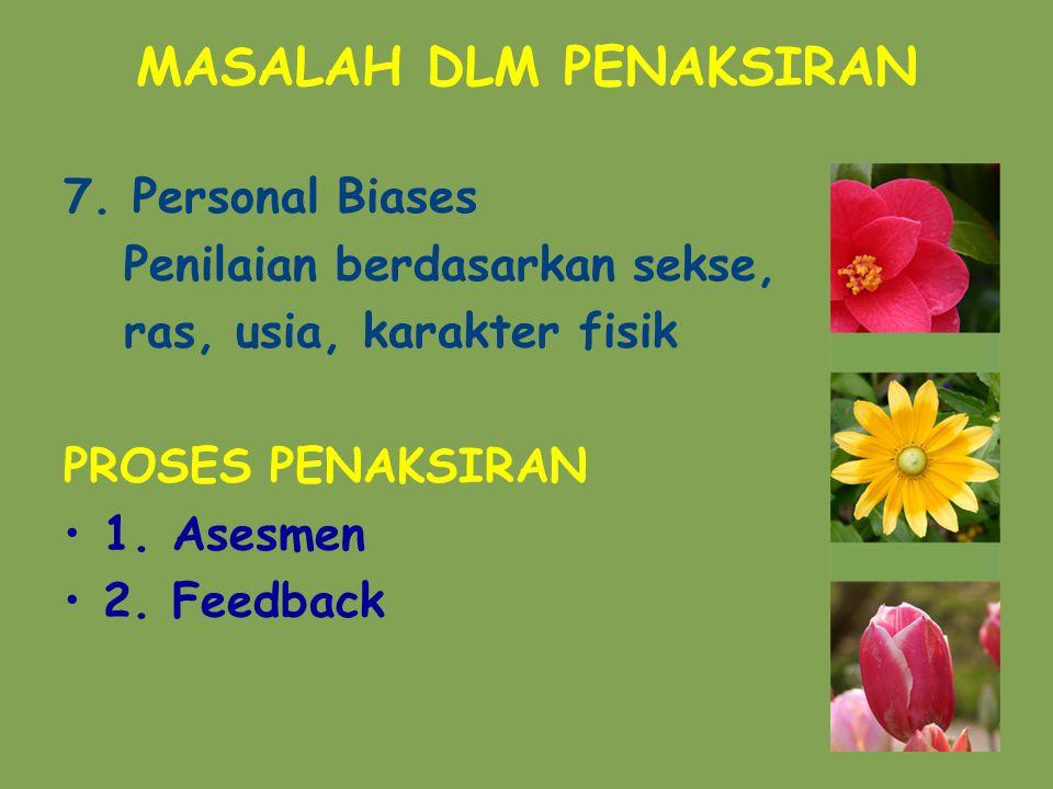 MASALAH DLM PENAKSIRAN 7.