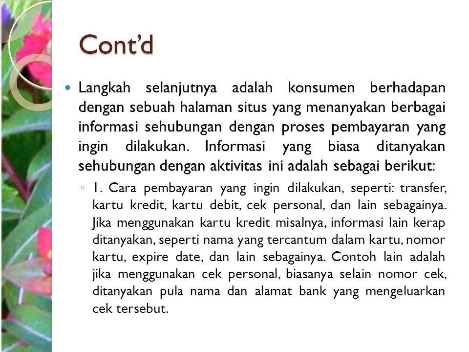 Cont'd ◦ 2.