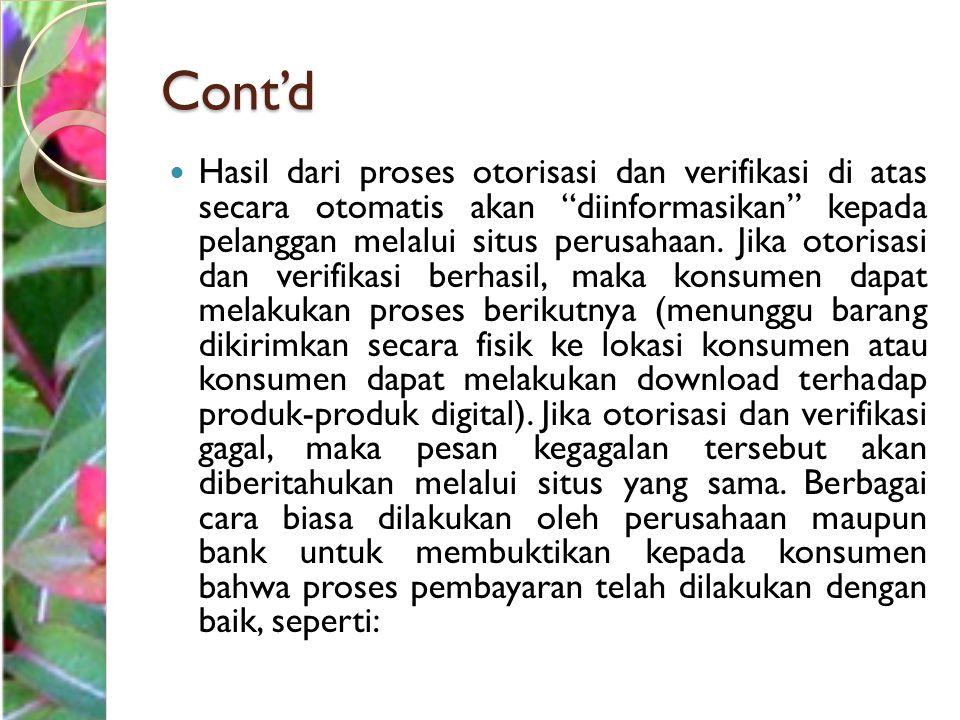 Cont'd 1.