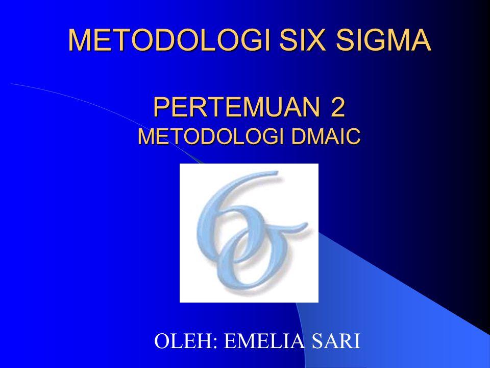METODOLOGI SIX SIGMA PERTEMUAN 2 METODOLOGI DMAIC OLEH: EMELIA SARI