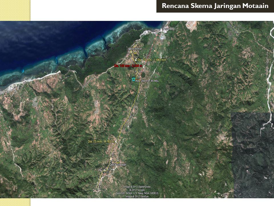 Pelabuhan Atapupu Desa Silawan Res. 200 m3 Pebatasan Kwsn Perm Rencana Skema Jaringan Motaain
