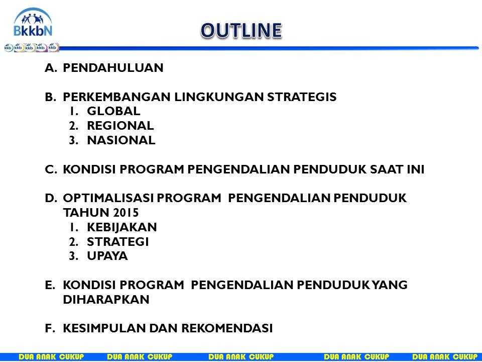 DUA ANAK CUKUP OPTIMALISASI PROGRAM PENGENDALIAN PENDUDUK TAHUN 2015 KEBIJAKAN