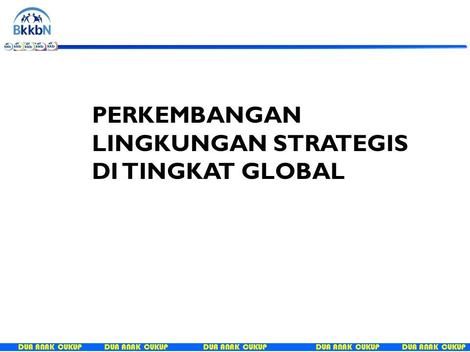 DUA ANAK CUKUP MDGs Berbasis pengentasan kemiskinan SDGs Right based approach  pembangunan berkelanjutan 2015 ISU STRATEGIS DI TINGKAT INTERNASIONAL