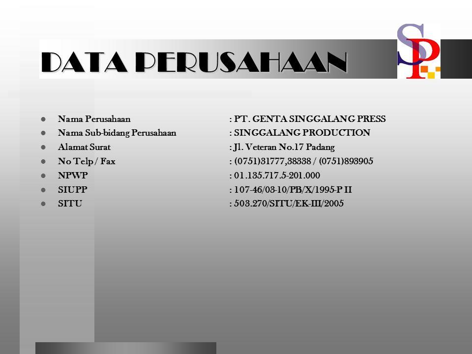 Background Singgalang Production merupakan sub-perusahaan dari SINGGALANG Group yang menaungi 2 (dua) media besar di Kota Padang dan Sumatera Barat yaitu Harian Umum SINGGALANG dan Radio SUSHI 99.1 FM yang akan memberikan keuntungan ganda dalam hal promosi event dan usaha.