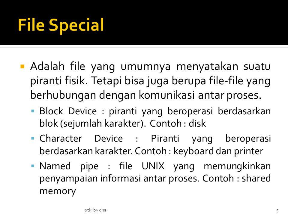  Adalah file yang umumnya menyatakan suatu piranti fisik.