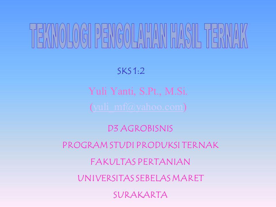 SKS 1:2 Yuli Yanti, S.Pt., M.Si.