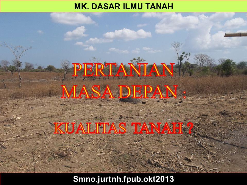Soil Science Simplified Ppt 1 - Intro MK. DASAR ILMU TANAH Smno.jurtnh.fpub.okt2013
